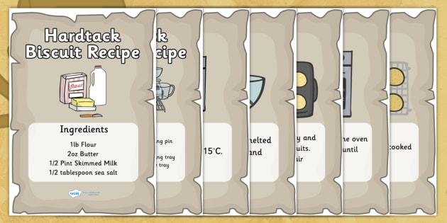 Pirate Themed Hardtack Recipe Sheets - hardtack, hardtack recipe, recipe, pirates, pirate recipe, cooking, baking, recipe sheets, hardtack recipe sheets