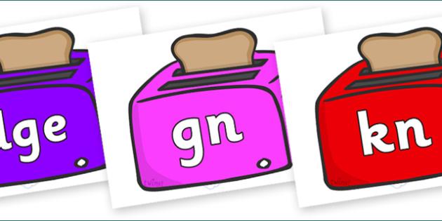 Silent Letters on Toasters - Silent Letters, silent letter, letter blend, consonant, consonants, digraph, trigraph, A-Z letters, literacy, alphabet, letters, alternative sounds