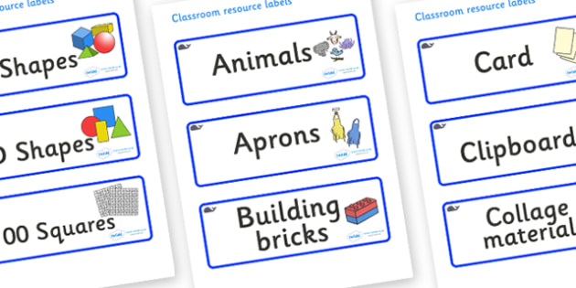 Blue Whale Themed Editable Classroom Resource Labels - Themed Label template, Resource Label, Name Labels, Editable Labels, Drawer Labels, KS1 Labels, Foundation Labels, Foundation Stage Labels, Teaching Labels, Resource Labels, Tray Labels, Printabl