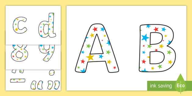 WOW- Display Lettering - Display Lettering Primary Resources, cut out, letters, display