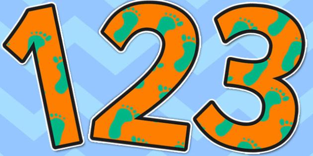 Footprint A4 Display Numbers - footprint, display numbers, number