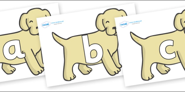 Phoneme Set on Puppies - Phoneme set, phonemes, phoneme, Letters and Sounds, DfES, display, Phase 1, Phase 2, Phase 3, Phase 5, Foundation, Literacy