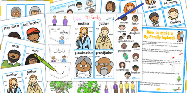 My Family Lapbook Creation Pack - lapbooks, create, families
