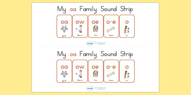My Oa Family Sound Strip - sound family, visual aid, literacy
