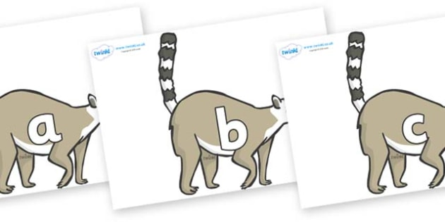 Phase 2 Phonemes on Lemurs - Phonemes, phoneme, Phase 2, Phase two, Foundation, Literacy, Letters and Sounds, DfES, display