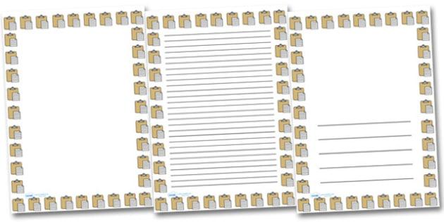 Copy and Paste Portrait Page Borders- Portrait Page Borders - Page border, border, writing template, writing aid, writing frame, a4 border, template, templates, landscape