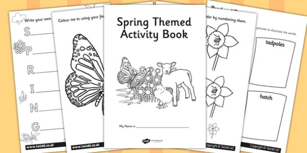 Spring Themed Activity Book - spring, activity, book, themed