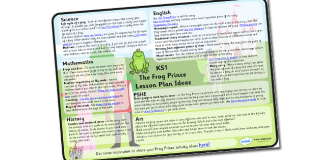 The Frog Prince Lesson Plan Ideas KS1 - frog, prince, lesson, plan, lesson plan, lesson plan ideas, lesson ideas, KS1, KS1 lesson plan, KS1 lesson ideas