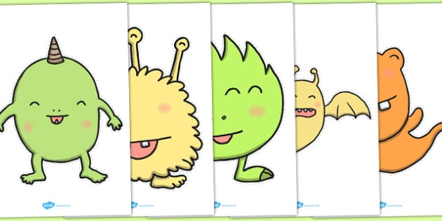 Cute Germ Cut Outs - cute germ, cut outs, cut, outs, bugs, germs