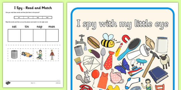 I Spy Read and Match Phase 2 Set 2 - I Spy, read and match, phase 2