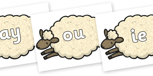 Phase 5 Phonemes on Sheep - Phonemes, phoneme, Phase 5, Phase five, Foundation, Literacy, Letters and Sounds, DfES, display