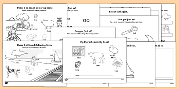 Phase 3 Digraphs Activity Booklet