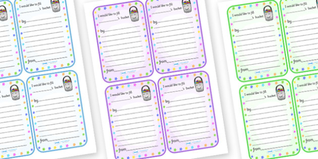 Have You Filled a Bucket Today Note Cards - have you filled a bucket today, filling buckets, Carol McCloud, note cards, cards, note, fill, bucket, empty, full, happyness, children