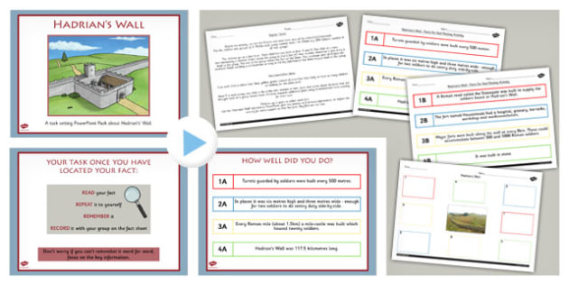 Hadrians Wall Fact Finding Lesson Teaching Pack - geography, fact