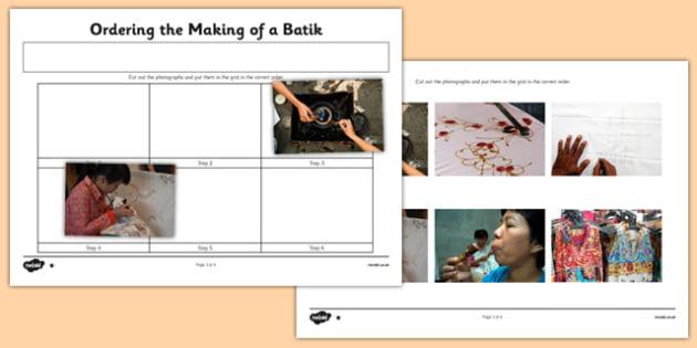 Ordering the Making of a Batik - ordering, making, batik, process, steps