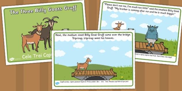 The Three Billy Goats Gruff Story Romanian Translation - romanian