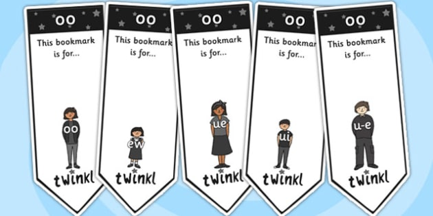 Long oo Sound Family Editable Bookmarks - oo sound family, editable bookmarks, bookmarks, editable, behaviour management, classroom management, rewards