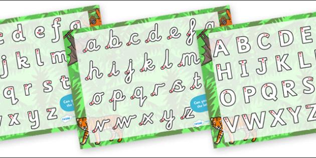 Jungle Themed Letter Writing Worksheet - jungle, letter writing, letter, writing worksheet, writing, literacy, english, letters worksheet, themed worksheet