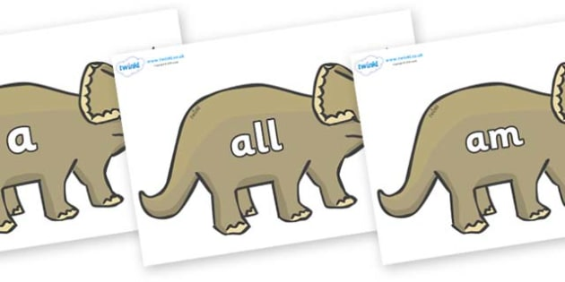 Foundation Stage 2 Keywords on Triceratops - FS2, CLL, keywords, Communication language and literacy,  Display, Key words, high frequency words, foundation stage literacy, DfES Letters and Sounds, Letters and Sounds, spelling