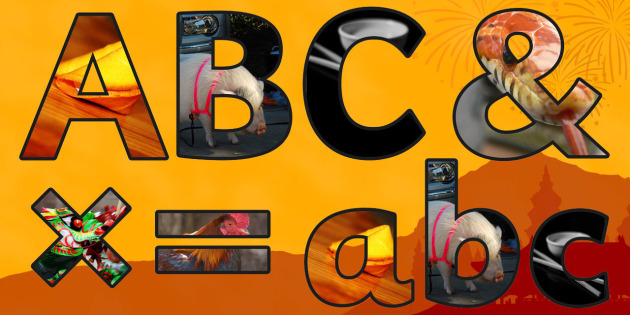 Chinese New Year Themed Photo Display Lettering - chinese, photo