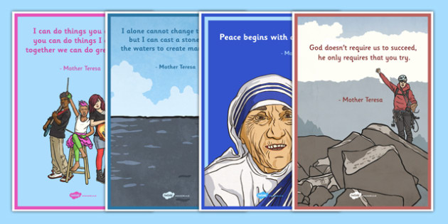 Mother Teresa Quotations Poster Pack - mother teresa, india, missionary, roman catholic, poor