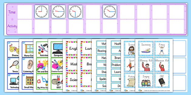 Daily Routine Resource Pack - Ks2, Visual, Timetable, Pack