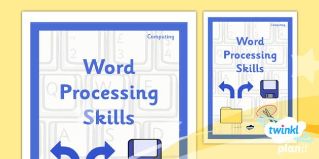Computing: Microsoft Word Skills Year 3 Unit Book Cover