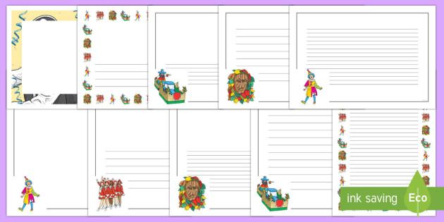 Fasching Schreibpapier - Fasching, Schreibpapier, Karneval, Fasnacht - Fasching, Schreibpapier, Karneval, Fasnacht