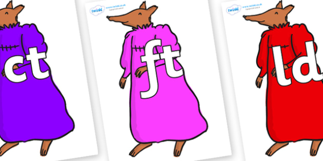 Final Letter Blends on Mrs Fox to Support Teaching on Fantastic Mr Fox - Final Letters, final letter, letter blend, letter blends, consonant, consonants, digraph, trigraph, literacy, alphabet, letters, foundation stage literacy