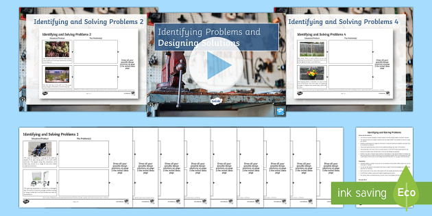 Identifying Problems and Designing Solutions Activity Pack - identifying, sketches, design, solutions, ideas, initial idea, development, KS3, problem solving, si