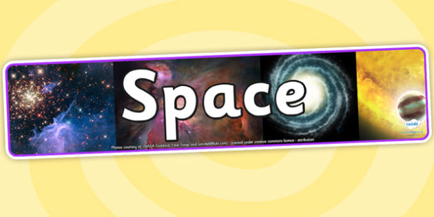 Space Photo Display Banner - space, space banner, space display