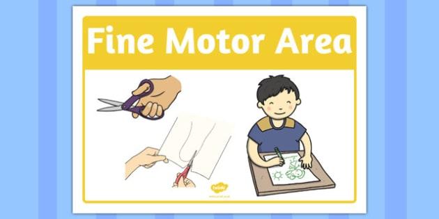 Fine Motor Area Sign - fine motor, area, sign, area sign, fine, motor
