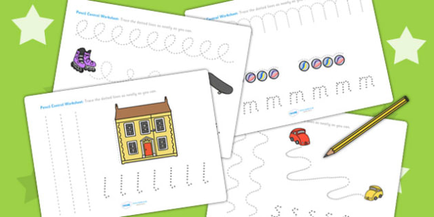 Toy Themed Pencil Control Activity Sheets - toys, pencil control