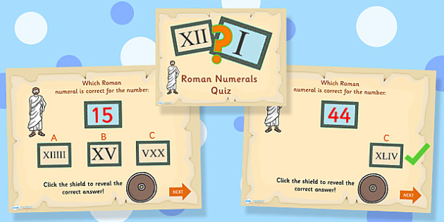Roman Numerals Quiz PowerPoint - roman numerals, quiz powerpoint, powerpoint roman numerals powerpoint, classroom quiz, games, quizzes, numbers, numeracy