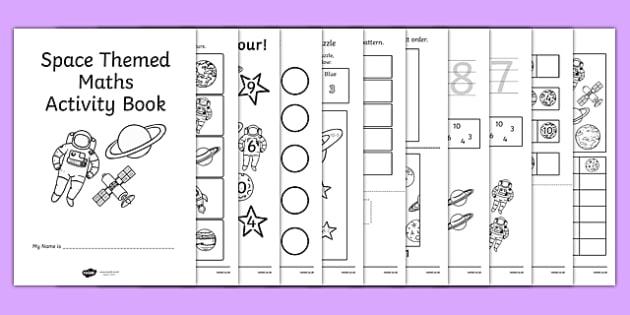 Space Themed KS1 Maths Activity Book - numeracy, activities, math