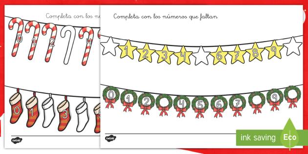Ficha de buscar números de 1 a 10: La Navidad - números, uno a diez, contar, navidad, navideña, navideño - números, uno a diez, contar, navidad, navideña, navideño