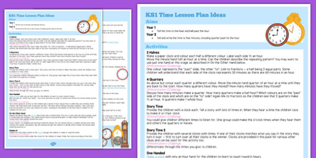 KS1 Time Lesson Plan Ideas - ks1, time, lesson plan, ideas, lesson ideas, lesson, plan