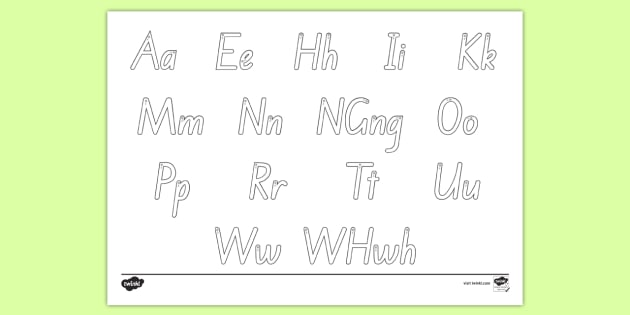 Alphabet Letter Formation Mat - Te Reo Maori - alphabet, tatai arapū, pū, pūriki.