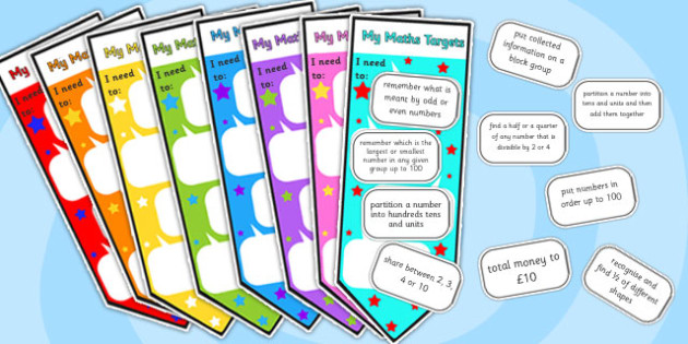 Level 2 Maths Assessment Bookmarks and Target Stickers - level 2, level two, maths, maths assessment, bookmarks, stickers, bookmarks and stickers, targets
