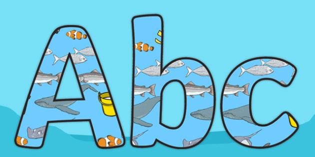 Sea Bucket Display Lettering Pack - sea bucket, billy's bucket, display lettering, display, lettering, letter, pack