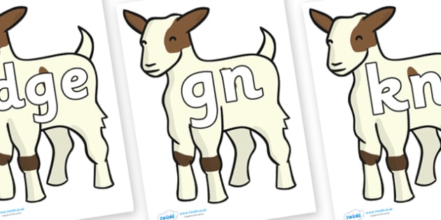 Silent Letters on Baby Goats - Silent Letters, silent letter, letter blend, consonant, consonants, digraph, trigraph, A-Z letters, literacy, alphabet, letters, alternative sounds