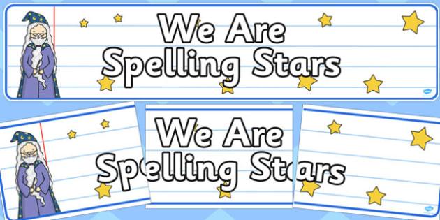 We Are Spelling Stars Display Banner - spelling, stars, display banner