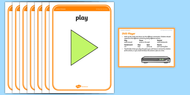 Foundation PE (Reception) DVD Player Warm-Up Activity Card - physical activity, foundation stage, physical development, games, dance, gymnastics