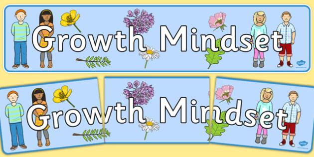 Growth Mindset Display Banner - growth, mindset, display banner