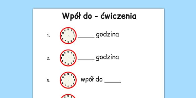 Zegar Kwiat po polsku - czas, godzina