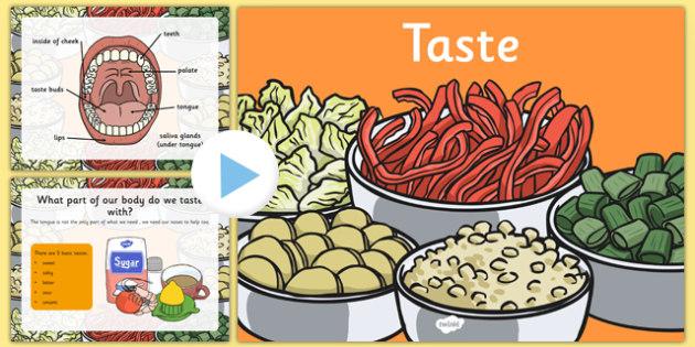 Science Senses 5 Tastes PowerPoint - science, senses, tastes, powerpoint