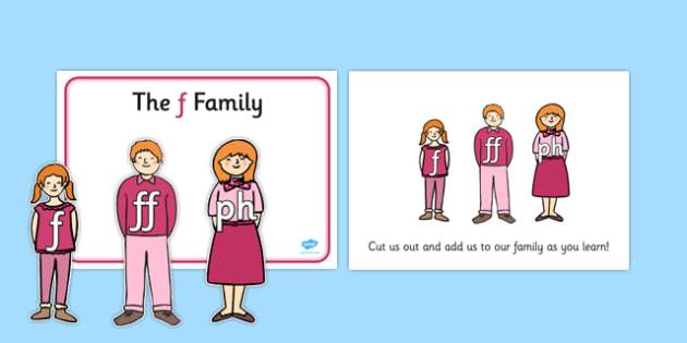F Sound Family Cut Outs - sound families, sounds, cutouts, cut