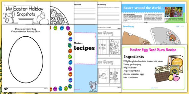 Easter KS2 Home Learning Pack - easter, ks2, home learning, pack, home, learning, home education