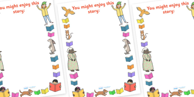 You Might Enjoy This Story Display Posters - you might enjoy this story, display, posters, sign, display posters, enjoy, story, reading, book, books, read, reading area, story resources, resources