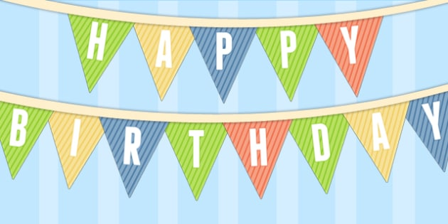 Dinosaur Themed Birthday Party Happy Birthday Bunting - birthdays